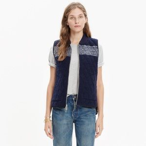 Like New Madewell Reversible Wool Quilted Vest